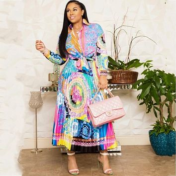 Africa Clothing African Suit For Women Sets African Print Elastic Bazin Baggy Skirts Rock Style Dashiki Sleeve Suit For Lady