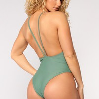 Vacation Mode Swimsuit - Green
