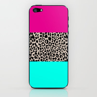 Leopard National Flag iPhone & iPod Skin by MN Art