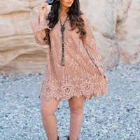 Stratosphere Crotchet Dress (Nude)
