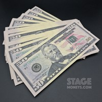 30x $50 Bills - $1,500 - New Style Prop Money