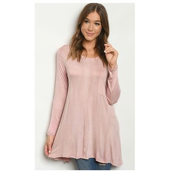 Simply Adorable Blush Tunic Top