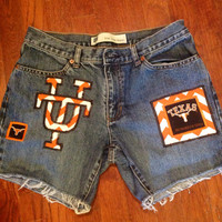 University of Texas Longhorns Upcycled Denim Shorts