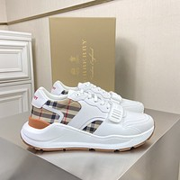 Burberry  Men Fashion Boots fashionable Casual leather Breathable Sneakers Running Shoes06150cx