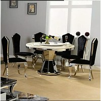 Modern 5-Piece Round Counter Height Dining Set