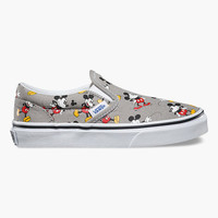 Vans Disney Mickey Mouse Classic Boys Slip-On Shoes Multi  In Sizes