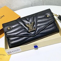 LV Louis Vuitton New fashion leather wallet purse handbag Black
