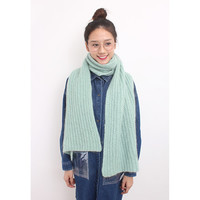 Mohair Blend Oversized Textural Fluffy Knitted Scarf