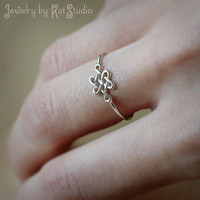 Infinity Celtic Knot Ring - Infinity knot - love knot ring - Sterling Silver 925 - Jewelry by Katstudio