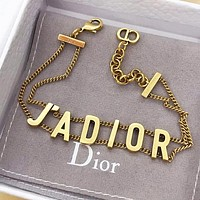 DIOR Fashion Women Letter Bracelet Hand Catenary Jewelry Accessories