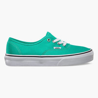 Vans Authentic Womens Shoes Aqua Green/True White  In Sizes