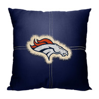 Denver Broncos NFL Team Letterman Pillow (18x18)
