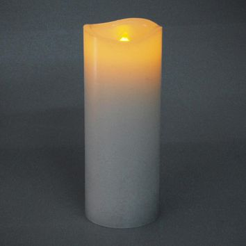Flameless Frosted Candle LED Light, Ivory, 5-Inch x 2-Inch