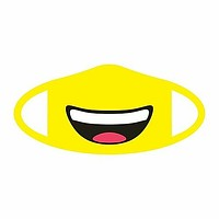 Smiling Emoji Fabric Face Mask (Pre-Order)