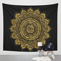 New Lotus Tapestry Printed Bohemia Tapestry Wall Hanging For Wall Decoration Hippie Tapestry Beach Towel Yoga Mat
