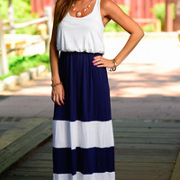 Come Sail Away Maxi, Navy/White