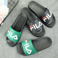 FILA Casual Fashion Women Floral Print Sandal Slipper Shoes