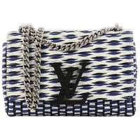 Louis Vuitton Chain Louise Smoke Clutch Quilted Leather