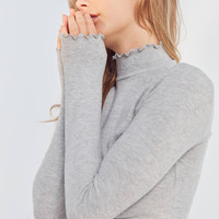 Out From Under Lettuce-Edge Cozy Mock Neck Top | Urban Outfitters