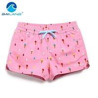 Gailang Brand Women Beach Board Shorts Sun Casual Active Shorts Jogger Sweatpants Woman Quick Drying Boxer Trunks Shorts Fashion