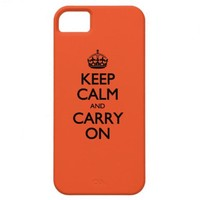 Tangerine Tango Keep Calm And Carry On iPhone 5 Covers from Zazzle.com