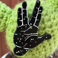 Star Trek inspired brooch Vulcan Hand Live long and prosper