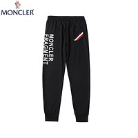 Moncler 2019 new fashion trend wild breathable stretch casual pants Black