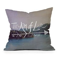 Leah Flores The Aim Of Life Throw Pillow