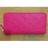 LOUIS VUITTONWOMEN LEATHER WALLET SINGLE ZIPPER WALLET