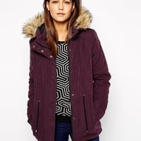 Only Faux Fur Hooded Parka