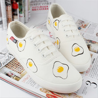 Sweet cute flat canvas shoes