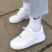 Nike Air Force 1 low-top shoes pure white simple art men and women low-top all-match sneakers shoes