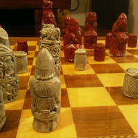 Gothic - Medieval Chess Set. Isle of Lewis Inspired.