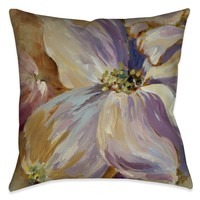 Flower Song II Outdoor Decorative Pillow