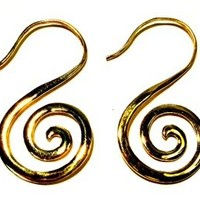 Gold Plated Spiral Earrings