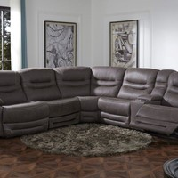 Power Reclining Sectional with USB Ports