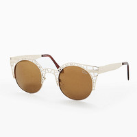 Quay Fleur Sunglasses in Gold - Urban Outfitters