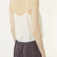 Lace Cropped Cami - Topshop USA