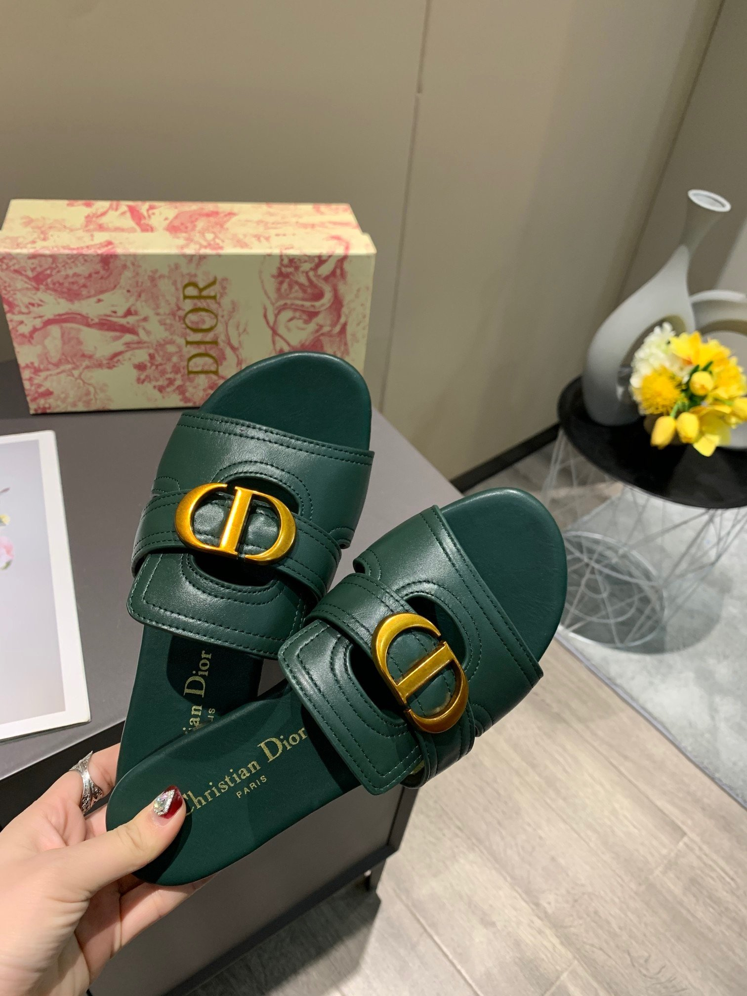Image of dior fashion men womens casual running sport shoes sneakers slipper sandals high heels shoes 40