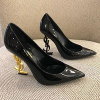 YSL Yves Saint Laurent new women's ultra-high heel stiletto with a high heel shoes 4