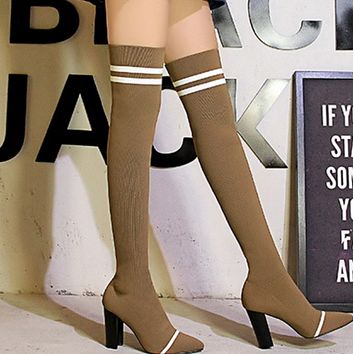 Hot style is selling pointy wool sexy over-the-knee boots shoes