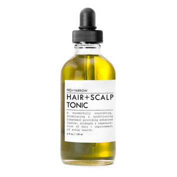 HAIRandSCALP TONIC / Beard/Aftershave oil - glass apothecary dropper bottle - organic - apothecary