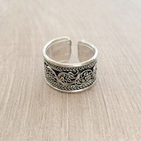 Tibetan Filigree Band Ring - Thick Version