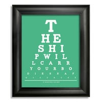 Of Monsters And Men Eye Chart, The Ship Will Carry Our Bodies Safe To Shore, 8 x 10 Giclee Print BUY 2 GET 1 FREE