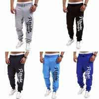 Mens Casual Slim Fit Running Jogger Gym Sport Pants