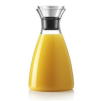 Hiware® 50 Oz Glass Drip-free Carafe with Stainless Steel Silicone Flip-top Lid, Hot and Cold Water Pitcher, Tea/Coffee Maker & Cafe Solo, Iced Tea, Beverage Pitcher As Well As for Decanting and Serving Wine