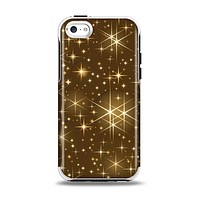 The Golden Glowing Stars Apple iPhone 5c Otterbox Symmetry Case Skin Set