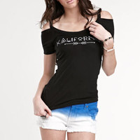 Kendall & Kylie Cold Shoulder Tee at PacSun.com