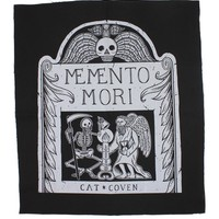 Memento Mori Large Fabric Back Patch