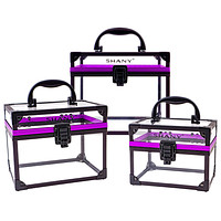 Clear Cosmetics and Toiletry Train Case